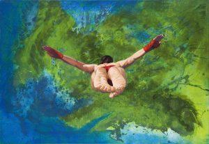 Sehnsucht nach Acapulco, 2010, 160x110 cm, Acryl auf Nessel
